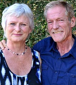 Susan Aird and Derek van der Riet from the Olive Boutique in Riebeek Kasteel