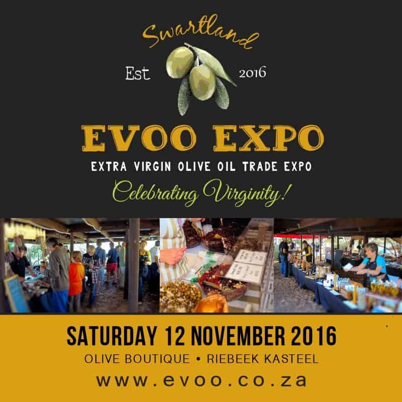 Evoo Expo Riebeek Kasteel Extra Virgin Olive Oil Expo in Riebeek Kasteel