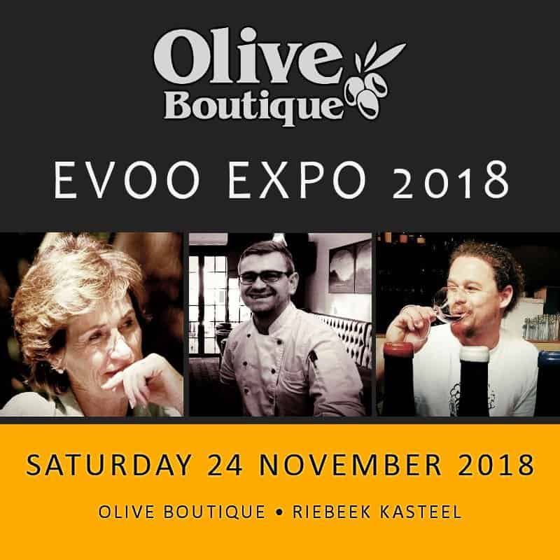 Olive Oil Expo 2018 Olive Boutique Riebeek Kasteel