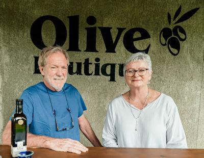 Derek van der Riet and Susan Aird from the Olive Boutique in Riebeek Kasteel